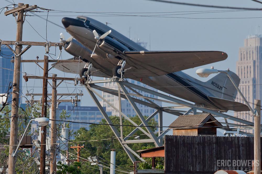 Douglas DC-3 plane at the Roasterie Plant in Kansas City, MO.