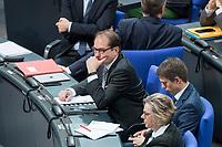 21 MAR 2019, BERLIN/GERMANY:<br /> Alexander Dobrindt, CSU, Vorsitzender der CSU-Landesgruppe, Bundestagsdebatte zur Regierungserklaerung der Bundeskanzlerin zum Europaeischen Rat, Plenum, Deutscher Bundestag<br /> IMAGE: 20190321-01-049