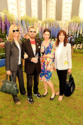 Th 2010 Royal Horticultural Society Chelsea Flower show in the grounds of Royal Hospital Chelsea, London on 24th May 2010.<br /> <br /> Picture shows:-Left to right, BARBARA BACH, RINGO STARR, MARY McCARTNEY and OLIVIA HARRISON