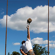 Highland Games. Throwing the heavy weight.