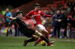 Charlton Athletic's Albie Morgan (right) and Sunderland's Luke O'Nien (left) battle for the ball