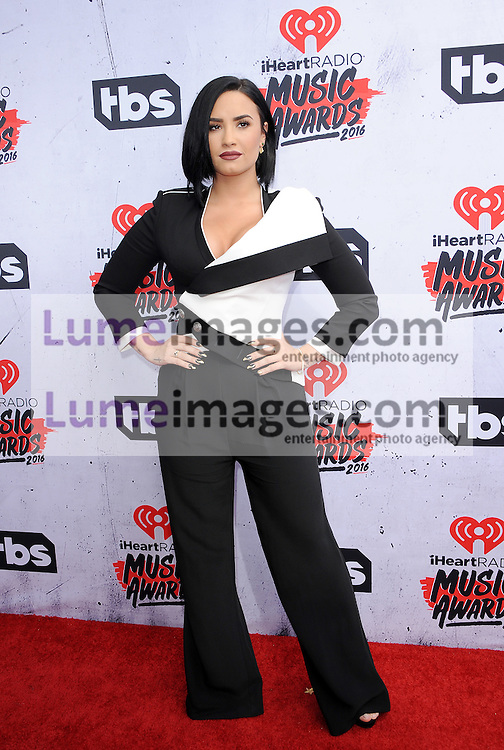 Demi Lovato at the 2016 iHeartRadio Music Awards held at the Forum in Inglewood, USA on April 3, 2016.