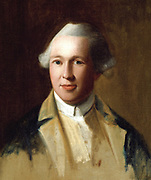 Portrait of General Joseph Warren by John Singleton Copley, C. 1772. Warren, who died fighting in the Battle of Bunker Hill, was a personal friend and physician to John and Abigail Adams. On exhibit over the fireplace in the Long Room of the Old House. dated 1786