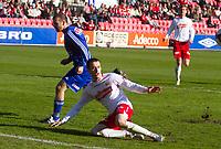 Fotball , <br /> Adeccoligaen , <br /> Seriekamp , <br /> Fredrikstad Stadio , <br /> Fredrikstad - Strømmen, <br /> 09.05.10 , <br /> Sezan Ismailovski og Agim Shabani (t.h)<br /> Foto: Christoffer Andersen / Digitalsport ,