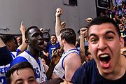 Jack Cooley, Commando Ultra' Dinamo, Ousmane Diop<br /> Banco di Sardegna Dinamo Sassari - AX Armani Exchange Olimpia Milano<br /> LBA Serie A Postemobile 2018-2019 Playoff Semifinale Gara 3<br /> Sassari, 02/06/2019<br /> Foto L.Canu / Ciamillo-Castoria