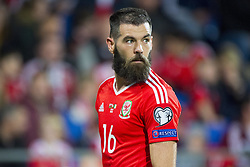 October 9, 2017 - Cardiff City, Walles, United Kingdom - Joe Ledley of Wales pictured during the FIFA World Cup 2018 Qualifying Round Group D match between Wales and Republic of Ireland at Cardiff City Stadium in Cardiff, Wales, United Kingdom on October 9, 2017  (Credit Image: © Andrew Surma/NurPhoto via ZUMA Press)