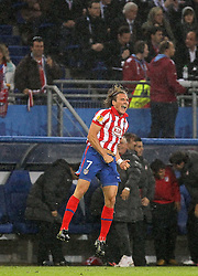 12.05.2010, Hamburg Arena, Hamburg, GER, UEFA Europa League Finale, Atletico Madrid vs Fulham FC im Bild Atletico de Madrid's Diego Forlan celebrates goal EXPA Pictures © 2010, PhotoCredit: EXPA/ nph/  Alvaro Hernandez / SPORTIDA PHOTO AGENCY