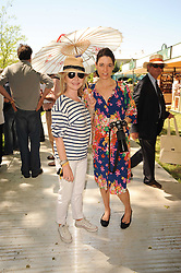 Th 2010 Royal Horticultural Society Chelsea Flower show in the grounds of Royal Hospital Chelsea, London on 24th May 2010.<br /> <br /> Picture shows:-Left to right, LULU and MARY McCARTNEY
