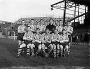 24/04/1957<br /> 04/24/1957<br /> 24 April 1957<br /> Soccer Top Four Competition  Semi-Final: Evergreen Utd v Sligo Rovers at Dalymount Park, Dublin. The Evergreen Utd team.
