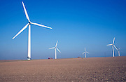 Wind turbines at Out Newton Road, Easington, Yorkshire, England