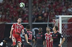 SHANGHAI, July 19, 2017  Robert Lewandowski (1st L) of Bayern Munich competes for a header during the match between Arsenal and Bayern Munich of 2017 International Champions Cup China in Shanghai, China, July 19, 2017. (Credit Image: © Jia Yuchen/Xinhua via ZUMA Wire)