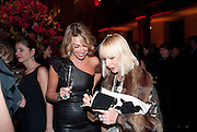 ASSIA WEBSTER; VIRGINIA BATES, IMG HERALD TRIBUNE HERITAGE LUXURY PARTY.- Celebration of Heritage Luxury and 10 years of the International Herald Tribune Luxury Conferences. North Audley St. London. 9 November 2010. -DO NOT ARCHIVE-© Copyright Photograph by Dafydd Jones. 248 Clapham Rd. London SW9 0PZ. Tel 0207 820 0771. www.dafjones.com.