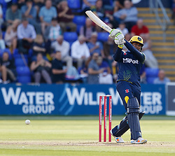 Glamorgan's Usman Khawaja <br /> <br /> Photographer Simon King/Replay Images<br /> <br /> Vitality Blast T20 - Round 8 - Glamorgan v Gloucestershire - Friday 3rd August 2018 - Sophia Gardens - Cardiff<br /> <br /> World Copyright © Replay Images . All rights reserved. info@replayimages.co.uk - http://replayimages.co.uk