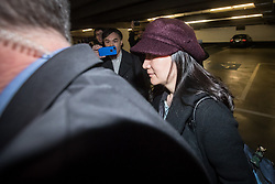Huawei chief financial officer Meng Wanzhou, who is out on bail and remains under partial house arrest after she was detained Dec. 1 at the behest of American authorities, leaves through an underground parking lot after a court appearance regarding her bail conditions, in Vancouver, on Tuesday January 29, 2019. Photo by Darryl Dyck/CP/ABACAPRESS.COM