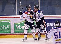 Ishockey , Get - ligaen ,<br /> Kvartfinale 3/7<br /> 08.03.2012 <br /> Kristins Hall<br /> Lillehammer I.K  v Sparta Sarpsborg  4-3<br /> Foto:Dagfinn Limoseth  -  Digitalsport<br /> Patrik Bergström og Brandon Buck , Sparta