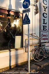 Visit to Kaichiroh Kurosu's Cherry's Company custom motorcycle shop. Tokyo, Japan. Monday, December 8, 2014. Photograph ©2014 Michael Lichter.