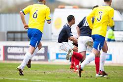 Falkirk's Lyle Taylor scoring their second goal from a penalty..Falkirk 4 v 1 Morton, 4/5/2013..© Michael Schofield..