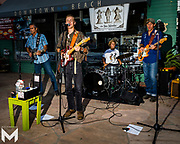 8/15/2019 - Festivities at Encinitas Classic Car Cruise Night included performances by the Sea Monks
