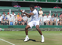 Tennis - 2017 Wimbledon Championships - Week One, Saturday [Day Six]<br /> <br /> Mens singles - Third round match<br /> Gael Monfils (FRA) v Adrian Mannarino (FRA) <br /> <br /> Gael Monfils  on  Court 12<br /> <br /> COLORSPORT/ANDREW COWIE