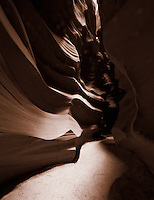 Upper Antelope Canyon, Page Arizona. Image taken with a Nikon D3 camera and 14-24 mm f/2.8 lens (ISO 200, 14 mm, f/16, 8 sec). Image processed with Capture One Pro.