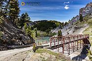 Historic bridge over the Dearborn River near Augusta, Montana, USA