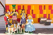 a full scale family made from Lego blocks at Main Street Disney World in Lake Buena Vista, Florida.