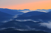 Clouds fill the mountain valley as seen from Raven's Roost on the Blue Ridge Parkway in Nelson County, VA. Photo/Andrew Shurtleff