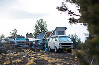 Van camping. Decend on Bend 2016. Central Oregon.