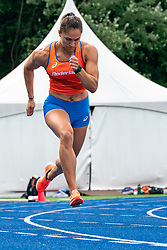 Naomi Sedney in action during the Press presentation of the olympic team Athletics on July 8, 2021 in Papendal Arnhem