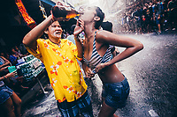 Crowds celebrate Songkran, the Thai New Year, in Bangkok, Thailand, by throwing water at each other. Traditionally, the festivities are rooted in the zodiac calendar, when the sun enters the sign of Aries. Songkran is a time of cleansing and renewal. Hence the water. But what was once a means of washing Buddha statues and the hands of elders has now turned into a nationwide water fight.