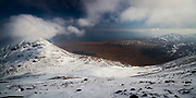 An image shot from the upper slopes of Beinn an Oir, one of the Paps of Jura