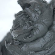 Black clay, close-up