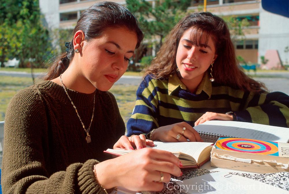 MEXICO, EDUCATION, MEXICO CITY U. I. C. students study together