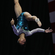 Erin Macadaeg, Redwood City, California, in action during the Senior Women Competition at The 2013 P&G Gymnastics Championships, USA Gymnastics' National Championships at the XL, Centre, Hartford, Connecticut, USA. 17th August 2013. Photo Tim Clayton