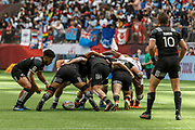 VANCOUVER, BC - MARCH 11: Scrum during Game # 31- New Zealand vs United States Cup QF3 match at the Canada Sevens held March 10-11, 2018 in BC Place Stadium in Vancouver, BC. (Photo by Allan Hamilton/Icon Sportswire)