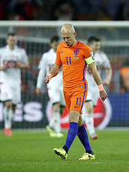 Arjen Robben of Holland during the FIFA World Cup 2018 qualifying match between Belarus and Netherlands on October 07, 2017 at Borisov Arena in Borisov,  Belarus