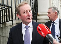 Outgoing Taoiseach Enda Kenny arrives at Government Buildings, Dublin, for his last day as Taoiseach.