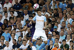 2018?8?10?.    ????????——???????????.    8?10?????????????????????????????.    ????2018-2019??????????????????????4?0??????.    ????????·????...(SP)FRNACE-PARIS-FOOTBALL-LIGUE 1-MARSEILLE VS TOULOUSE..(180810) -- MARSEILLE, Aug. 10, 2018  Hiroki Sakai (R) of Marseille vies with Corentin Jean of Toulouse during their match of French Ligue 1 2018-19 season 1st round in Marseille, France on Aug. 10, 2018. Marseille won 4-0 at home.  49738 (Credit Image: © Fabien Galau/Xinhua via ZUMA Wire)