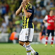 Fenerbahce's Dirk Kuijt during the UEFA Champions League Play-Offs First leg soccer match Fenerbahce between Arsenal at Sukru Saracaoglu stadium in Istanbul Turkey on Wednesday 21 August 2013. Photo by /TURKPIX