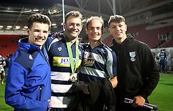 Bristol Rugby fans celebrate - Mandatory byline: Robbie Stephenson/JMP - 25/05/2016 - RUGBY UNION - Ashton Gate Stadium - Bristol, England - Bristol Rugby v Doncaster Knights - Greene King IPA Championship Play Off FINAL 2nd Leg.
