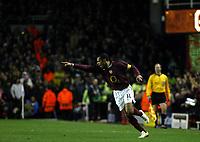 Photo: Chris Ratcliffe.<br /> Arsenal v Juventus. UEFA Champions League. Quarter-Finals. 28/03/2006.<br /> Thierry Henry celebrates his goal