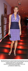 MRS SEB BISHOP she was model Heidi Wichlinski former girlfriend of racing driver David Coulthard,  at a party in London on 28th October 2003.PNW 356
