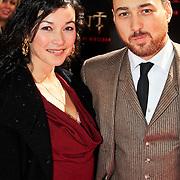 NLD/Amsterdam/20101103- Filmpremiere Sint de film, Birgit Schuurman en partner Arne Toonen