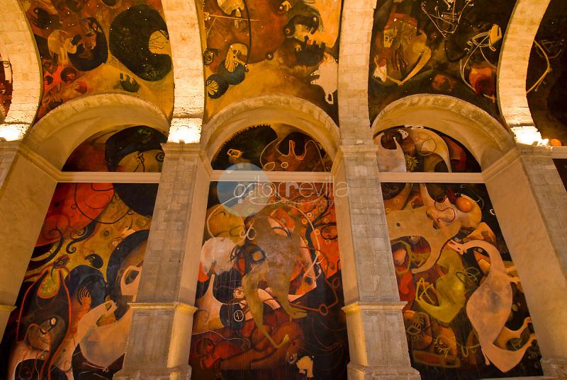 Centro de Arte Pintura Mural de Alarcón. Iglesia de San Juan Bautista. Alarcón. Cuenca ©Antonio Real Hurtado / PILAR REVILLA