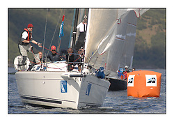 The Brewin Dolphin Scottish Series, Tarbert Loch Fyne..Day 1 Bright conditions on Loch Fyne..GBR3470C Airtricity FYC First 34.7 Steven Cowie..Credit : Marc Turner / PFM.