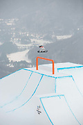 Redmond Gerard, USA, during the mens Snowboard Slopestyle Qualifications at the Pyeongchang Winter Olympics on the 10th February 2018 in Phoenix Snow Park in South Korea