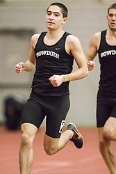 Bowdoin Indoor 4-way track meet: mens 3000 meters, Coby Horowitz, Bowdoin