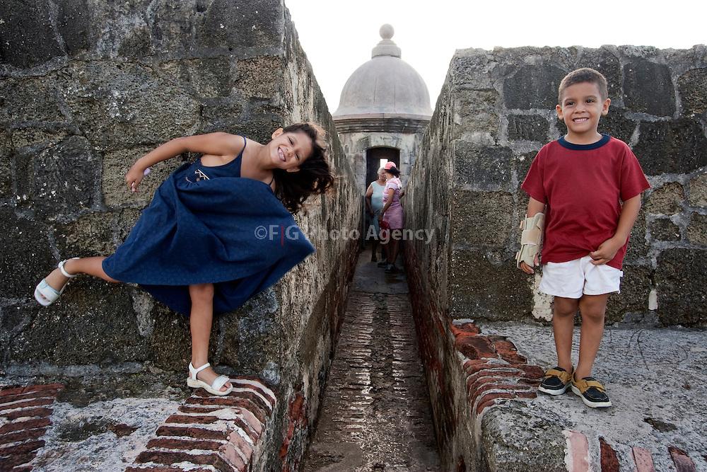 Children enjoy at Old San Juan Historic Sites.