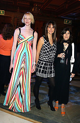 Left to right, model, JADE PARFITT, model SAFFRON ALDRIDGE and BELLA FREUD at the 2005 Lancome Colour Design Awards in association with CLIC Sargent Cancer Care for Children held at the Freemasons' Hall, Great Queen Street, London on 23rd November 2005.<br />