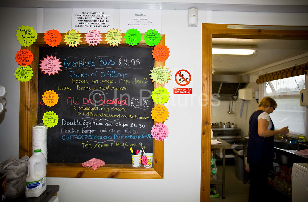 Interior of a transport cafe at Sourton Cross on 23rd June 2008 in Okehampton in the United Kingdom.